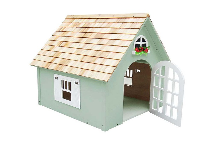 One Kings Lane - Home Sweet Home - Victorian Dog House, Green
