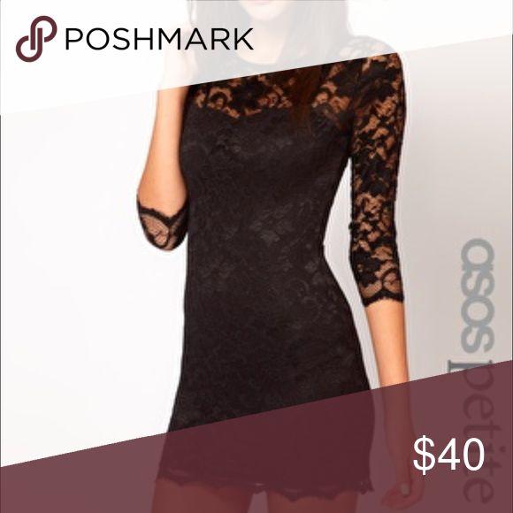 Asos black lace body con Body con lace dress. Only worn a few times ASOS Dresses Mini