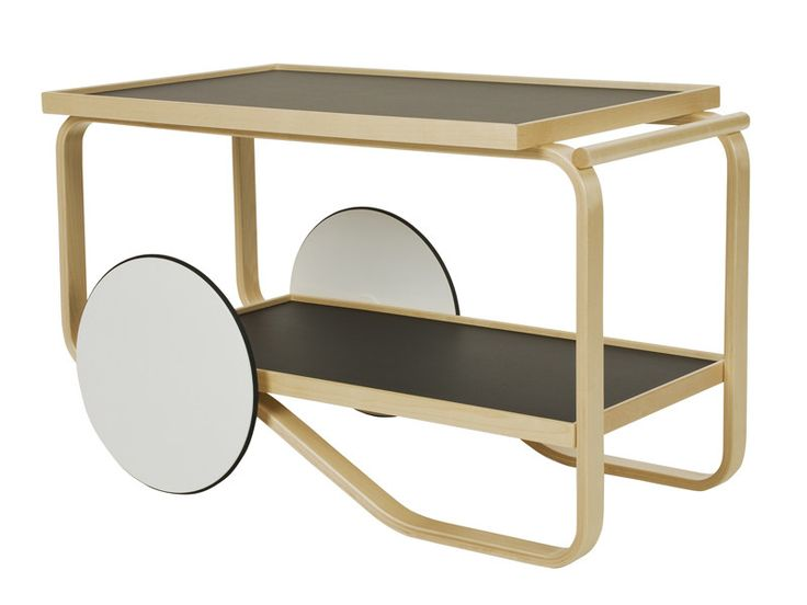Download the catalogue and request prices of 901 tea trolley | wooden food trolley By artek, birch food trolley design Alvar Aalto, alvar aalto Collection
