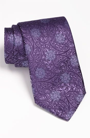 should I make the guys wear purple ties?   Canali Woven Silk Tie   Nordstrom