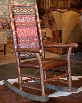 Old Hickory Chair Company Rocker... & this is what will be on my future wrap around porch.