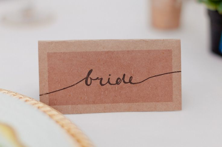 calligraphy bride place card