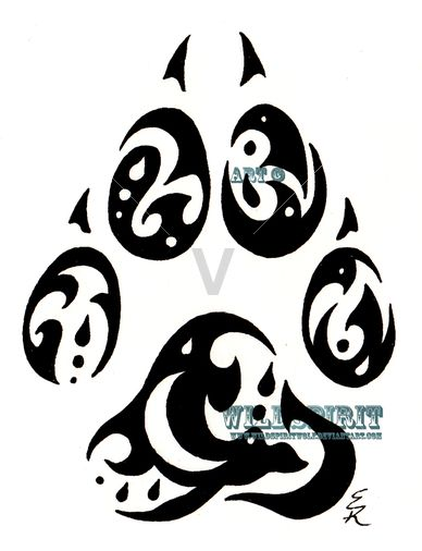 Tribal paw print | Designs: Celtic, Tribal & Tattoos ...