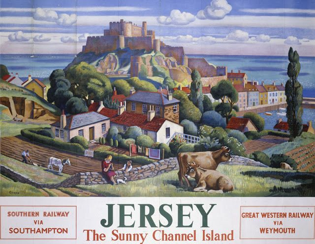ISLANDS: Jersey by Adrian Allinson for Southern Railway GWR
