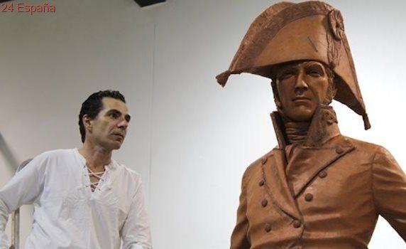 Salvador Amaya ultima una estatua de Menacho, el héroe olvidado de la Guerra de la Independencia