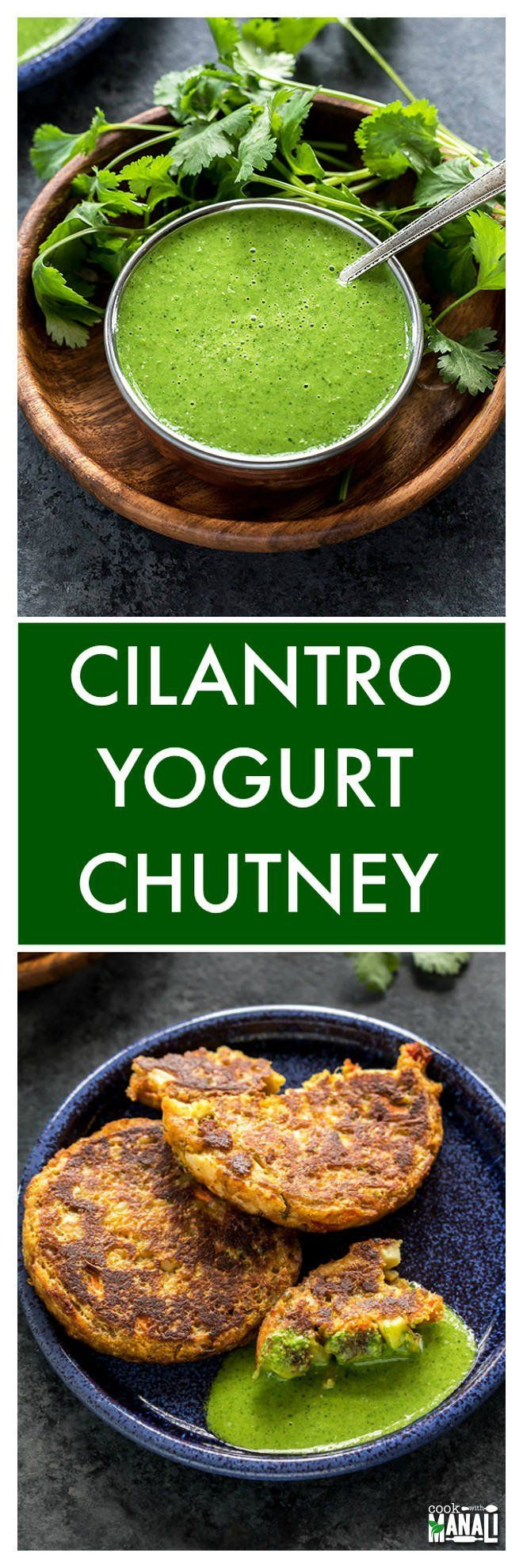 Easy Cilantro Yogurt Chutney is the perfect accompaniment to Indian meals! It's great on wraps, sandwiches and so much more!