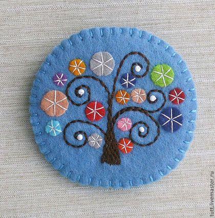 """Броши ручной работы. Ярмарка Мастеров - ручная работа Брошь """"Чудо-дерево"""". Handmade."""