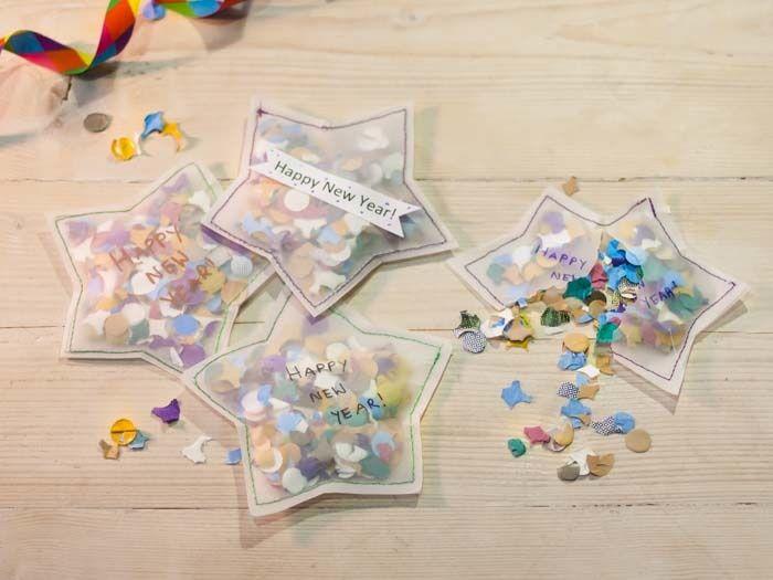 Wir lieben Konfetti! Wie wäre es dann mit diesen Konfetti-to-go-Sternen zum selber nähen? Nastja von DIY Eule zeigt Dir, wie einfach es geht.