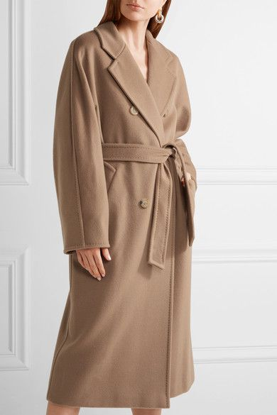 Max Mara - Madame Oversized Wool And Cashmere-blend Coat - Camel - UK14