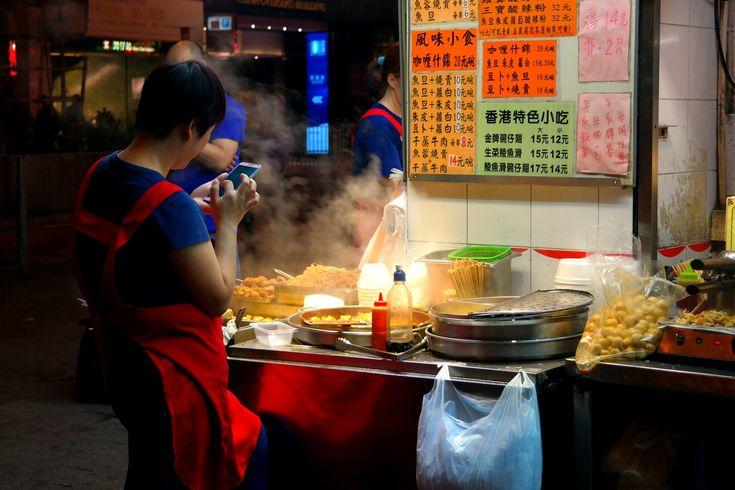 HKG by night, street foods by Zbigniew Włodarski on YouPic