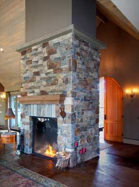 For our dream house one day a walk around fireplace for Walk in fireplace designs
