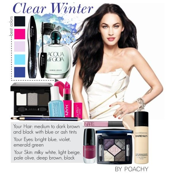 Clear Winter. by poachy on Polyvore featuring beauty, Christian Dior, NYX, Bare Escentuals, Lancôme, Clarins, NARS Cosmetics, Ellis Faas, Hourglass Cosmetics and Kevyn Aucoin