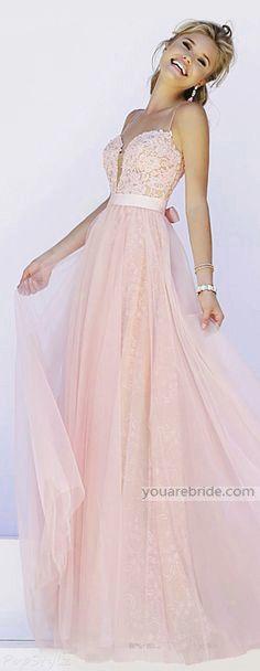 prom dress ; pink prom dress