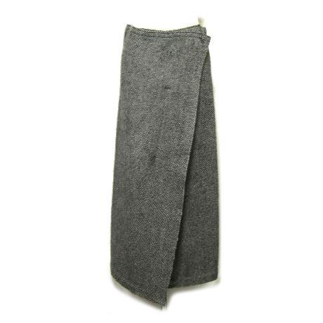 Yohji Yamamoto + NOIR アシンメトリー安全ピンマキシ丈巻スカート asymmetric wrapped skirt