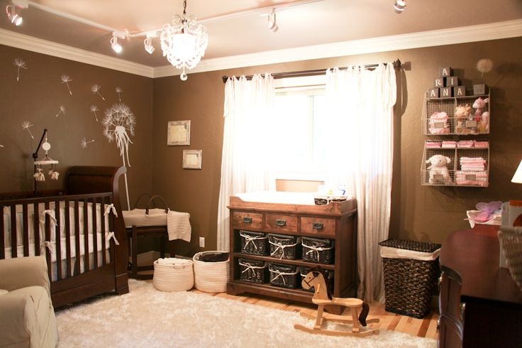 Warm, neutral tone nursery  would love this color with touches of camo & antlers for my future hunter