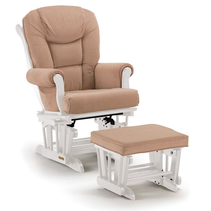 Shermag /White Combo Glider With Ottoman