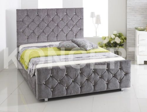 Chenille Fabric Upholstered Storage Bed Frame Designed And Manufactured In Uk Frames Beds