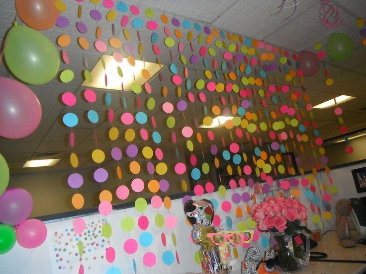 Decoración de Cumpleaños en la oficina