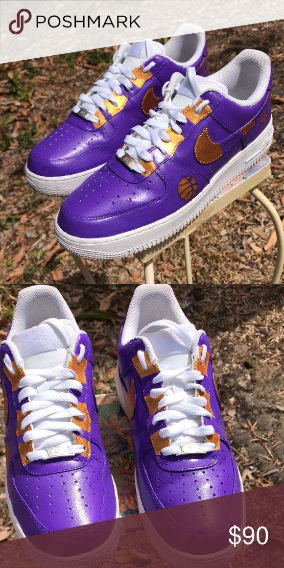 """Custom Air Force 1s """"4 The Win Bang"""" size 12 Custom Air Force 1s """"4 The Win Bang"""" size 12 all my shoes are 100% Authentic because most were my own collection of shoes and some are bought from Footlocker Nike Shoes Sneakers"""