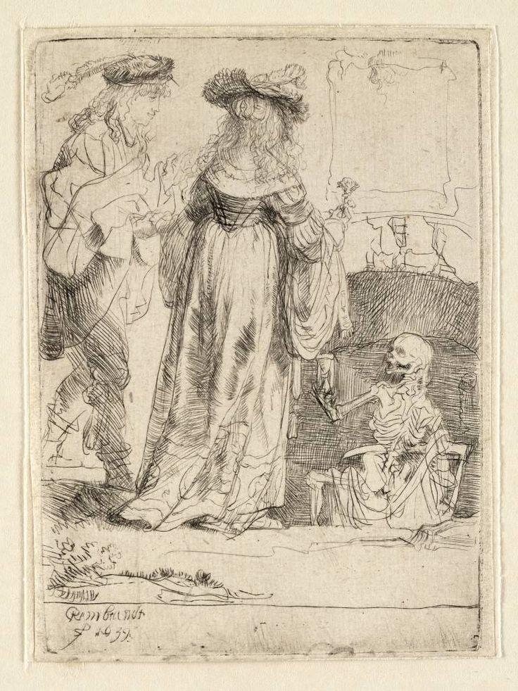 Mijn favoriete Rembrandt in Teylers Museum: De dood en de jonggehuwden (B109)