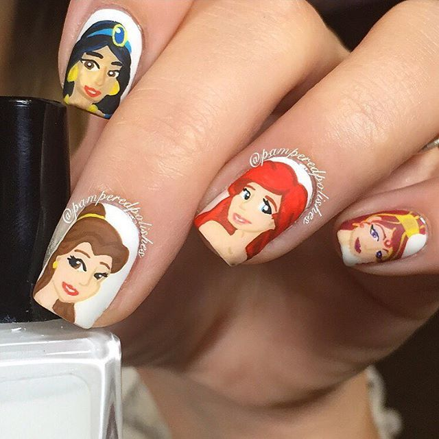 Disney Princess Nails: 245 Best Disney Inspired Nails And Makeup Images On