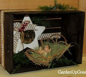 DIY Interesting And Useful Ideas For Your Home: Holiday Crate X 10 -A Simple Nativity