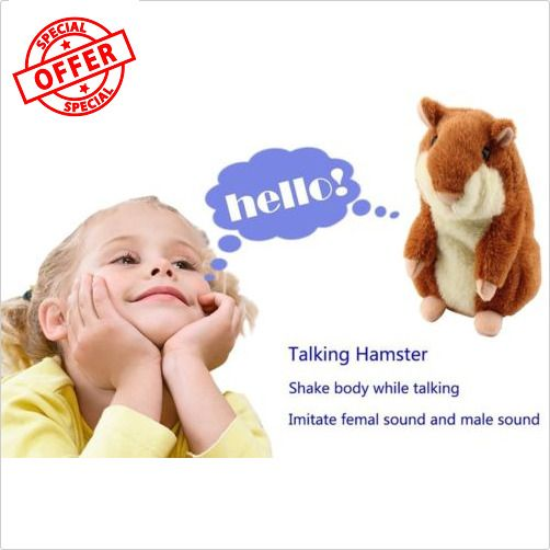 Lovely Talking Hamster Plush Toy Hot Cute Speak Talking Sound Record Toy on Sale #OUTAD
