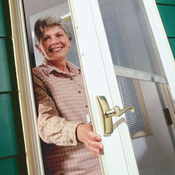 Storm door handles break or become tarnished long before the door need replacing, but installing a new handle is a simple job that can usually be finished in a few minutes.