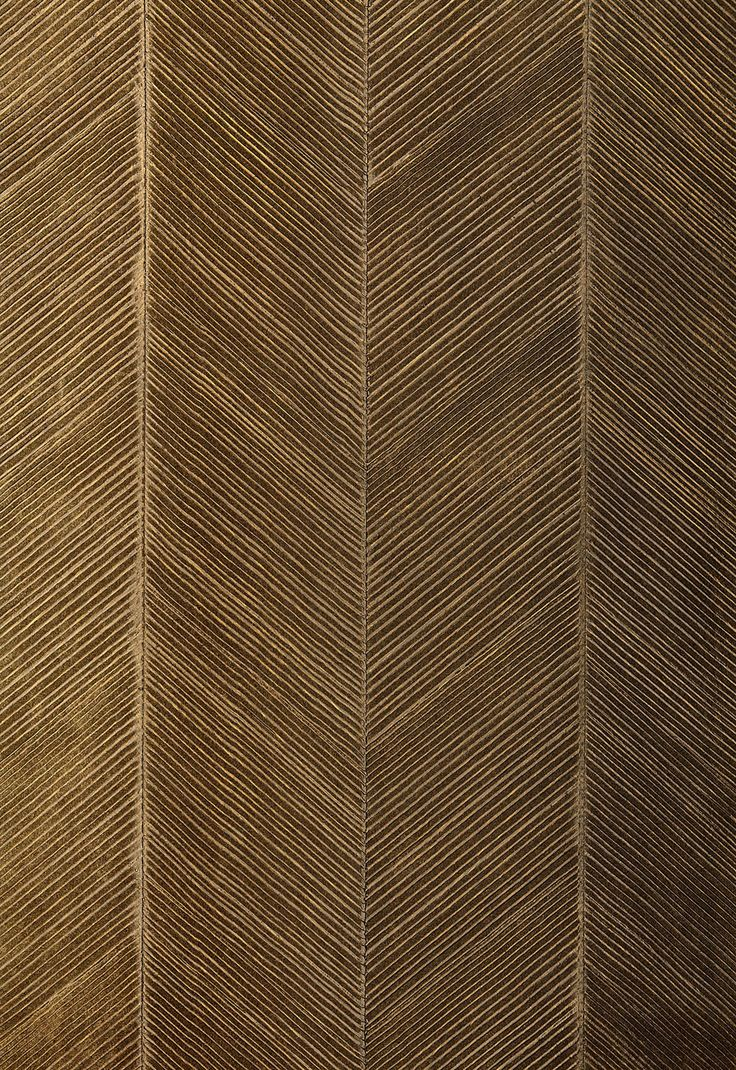 Wallcovering / Wallpaper | Chevron Texture in Burnished Bronze | Schumacher