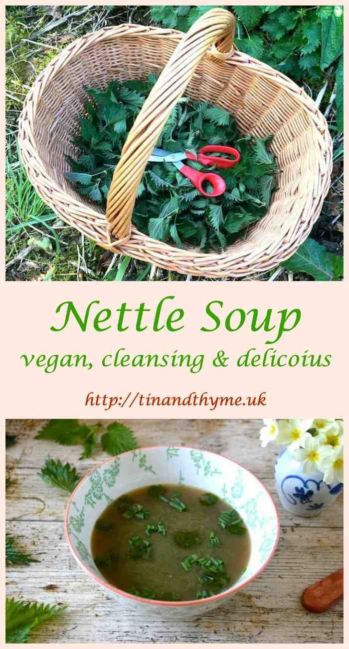 Nettle Soup - a traditional spring tonic. Delicious, Dairy-free and Vegan