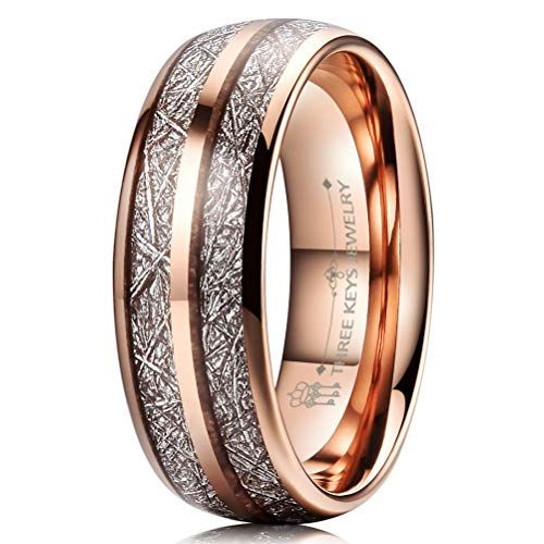 Three Keys Jewelry 6mm 8mm Tungsten Wedding Rings Imitated