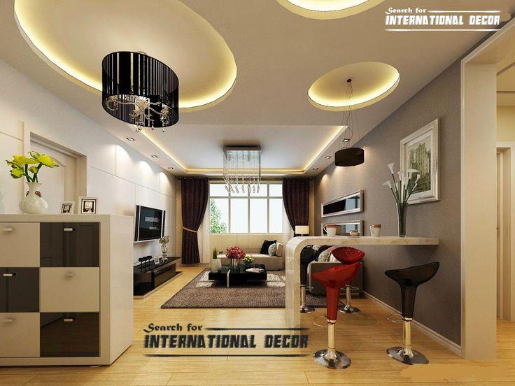 Exclusive catalog of false ceiling pop design for modern for Pop design for living room