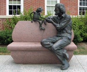 Jim Henson memorial garden~not a gravesite~but the info is interesting. I was particularly fond of Jim Henson!