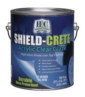 H® Shield-Crete® Acrylic Clear Glaze 3.8Lt