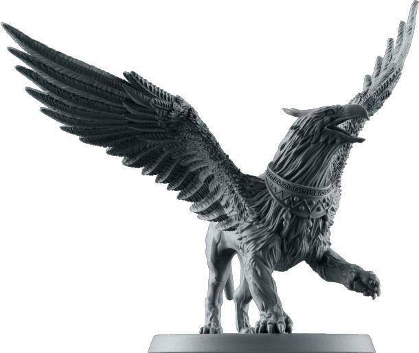 Griffon. Sculpted by Arnaud Boudoiron