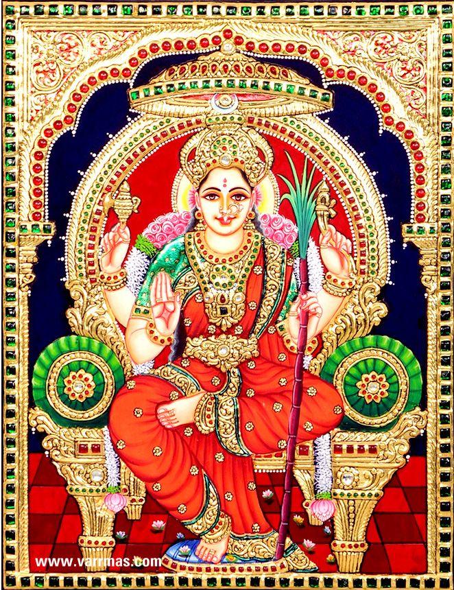 Raja Rajeswari Tanjore Painting,