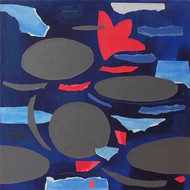 """andrea mattiello """"Riflettere l'attesa"""", acrilico e collage su tela cm 50x50; 2016 #andreamattiello #mattielloandrea #artist #emergingartist #artistaemergente #contemporaryart #collage"""