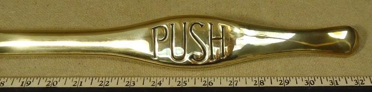 vintage door push bar 1