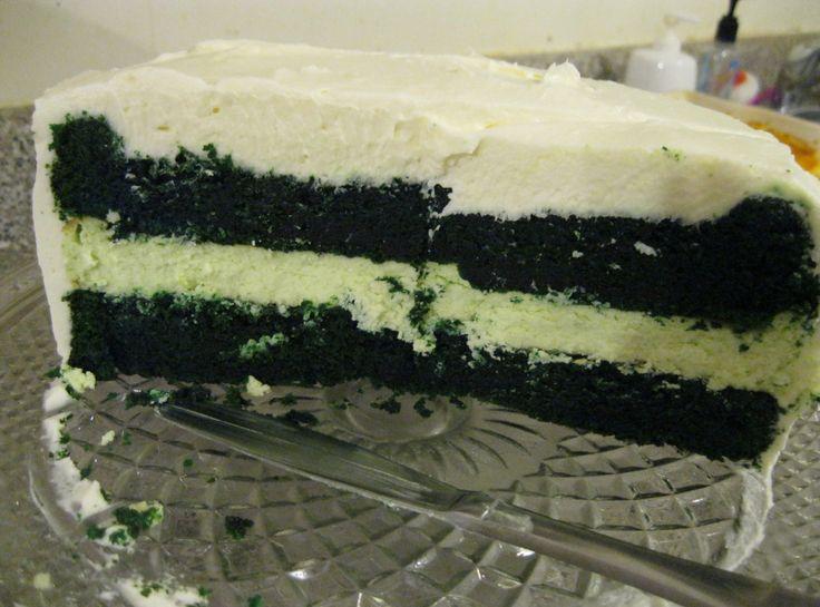 Green Velvet Cheesecake Cake | GREAT Recipe | Pinterest