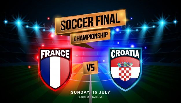 Soccer Final Match Between France And Croatia In 2020 Soccer Finals Soccer Standings Soccer