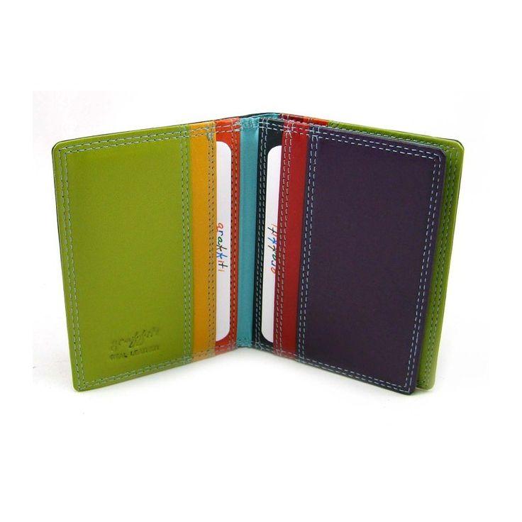 Luxusní barevné pouzdro na karty - peněženky AHAL