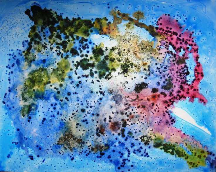 Dissolving Worlds.. Ink and watercolor on yupo paper. See more examples of my work at rloliverartist.com.