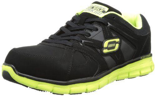 Skechers for Work Men's 76995 Synergy-Flex Gripper Steel Toe Work Shoe