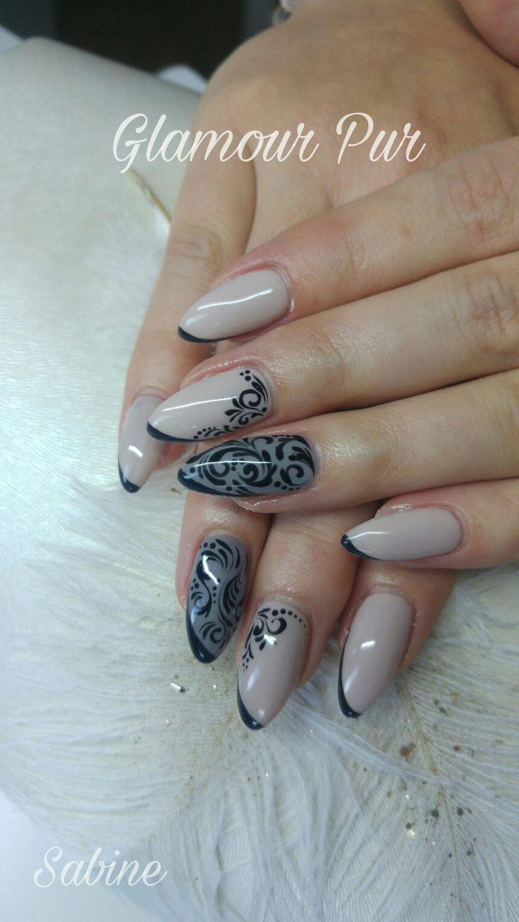 Nails, Schnörkel, Nude