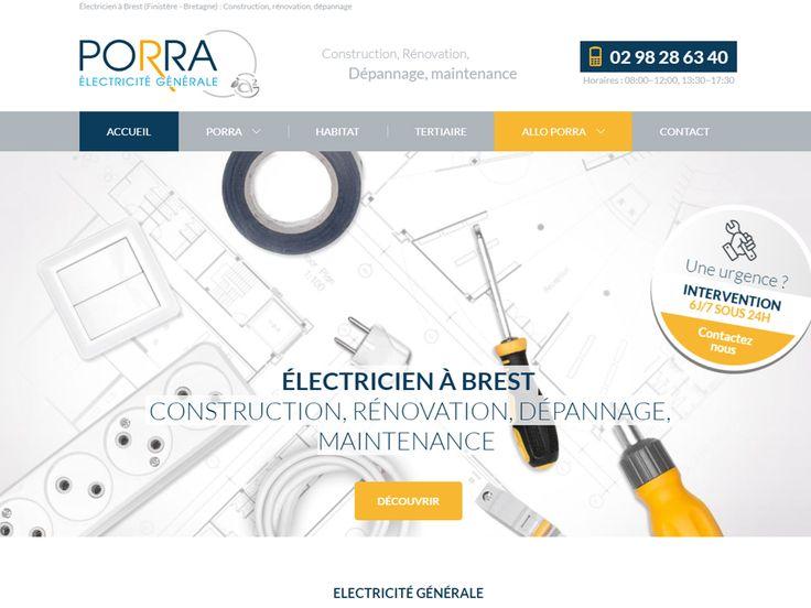 Électricien à Brest dans le Finistère (Bretagne), Porra intervient sur des projets de construction et rénovation électrique et en dépannage électricité.