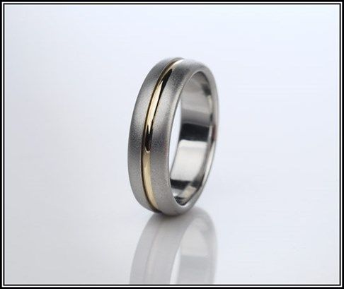 Sea Ray Platinum And Yellow Gold Wedding Band