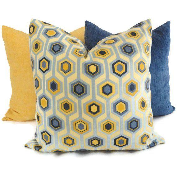 29 Top Collection Blue And Yellow Pillows Pelaburemasperak Com Yellow Pillows Yellow Decorative Pillows Blue Throw Pillows