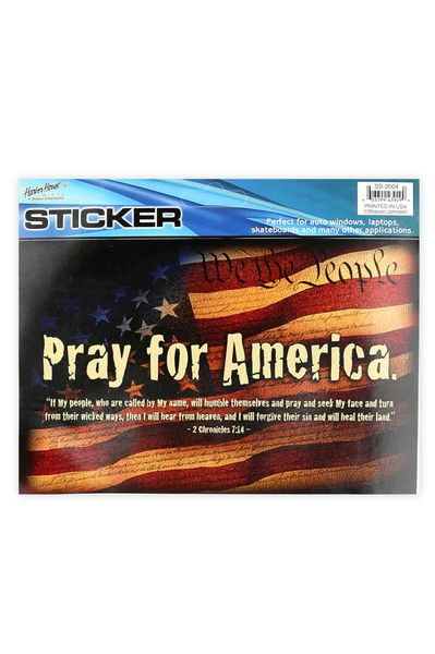 Dicksons, 2 Chronicles 7:14, Pray For America, Auto Decal, 6 1/4 x 4 inches