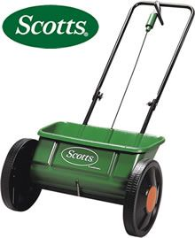 """This Drop Spreader is ideal for applying Scotts or EverGreen fertilisers.   Traditional drop lawn variable setting spreader. On / Off trigger. Spread width - 45cm (18"""")."""