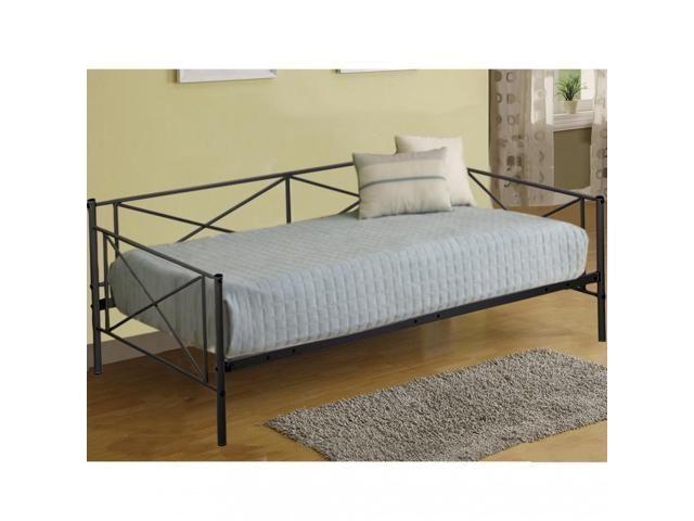 Daybed Frame Metal Platform Bed Mattress Foundation Twin Heavy Duty Steel Slats Bed Slats Bed Frame Metal Daybed